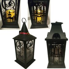 Halloween LED Candle Lantern Battery Operated Lamp Hanging Halloween Decorations