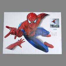 3D Spiderman Wall Sticker Kids Bedroom Home Decor Decal PVC Mural Art Wallpaper