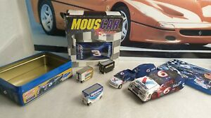 NASCAR RELATED ITEMS - VINTAGE MOUSE / TIN BOX / TOY VEHICLES / BEANIE BAG
