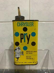 Vintage Chrysler Pry Handy Oiler Tin - Dodge Mopar Motor Oil Petrol Tin