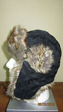 Faux Fur Russion Winter Siberian Ushanka Hat Ear Flaps Chin Strap 23 24 Inch Dia