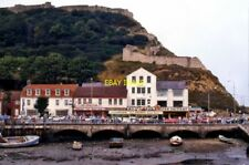 PHOTO  SCARBOROUGH 1990 SHOPS AND AMUSEMENT ARCADE ACROSS THE HARBOUR
