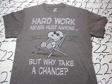 Medium- Snoopy Hard Work Never Hurt Anyone Peanuts Brand T- Shirt