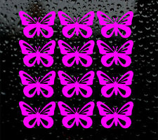 12 x BUTTERFLY DECAL LOGO FOR CAR VAN LAPTOP VINYL STICKER GIRL WINE GLASS