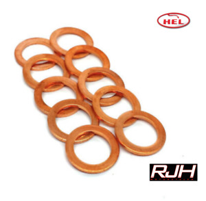 """HEL PERFORMANCE Copper Crush Washers M10, 10mm, 3/8"""" (10 PACK) Cagiva"""