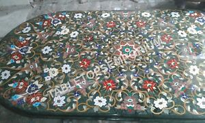 6'x4' Inlay Marquetry Multi Inlay Marble Decorative Dining Room Table Top E343