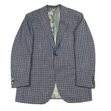 CORNELIANI Blue Check Wool Silk Blazer Sport Coat Jacket Men's 40 R