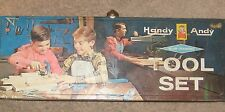 VTG HANDY ANDY BLUE DIAMOND CHILDS METAL TIN TOOL BOX ONLY SKIL CRAFT NO 630 USA