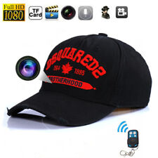 32GB Mini 1080P HD Baseball Cap Spy Camera Hidden TRUCKER Hat Remote control DVR