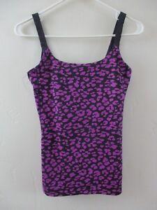 4 lululemon women's tank top animal print yoga fitness gym purple