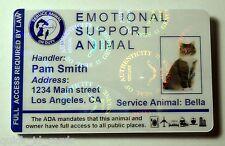 Hologram Feline Emotional Support Animal ID Card / Badge Service Cat  ESA  32