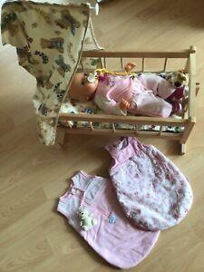 Baby Born Anabell + Hündchen mit Wiege * Babyborn* Zapf Creation