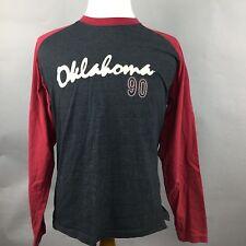 Oklahoma Retro Vintage Long Sleeve Raglan No. 90 Dark Gray/Maroon Mens M Jersey