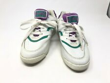 Vintage Gitano Womens 7M Shoes Blade low Top Sneakers White Purple Teal 1990s