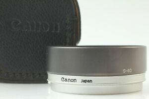 [MINT++ w/ Case] Genuine Canon S-60 60mm Metal Lens Hood from Japan #762