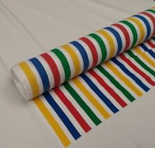 """1 Meter 44"""" Wide Rich Poly Cotton Seaside Blinds Deck Chair Multi Stripe"""