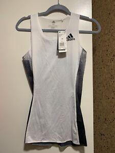 NWT $55 Adidas Sub 2 Women's Running T Shirt sub 2 singlet DZ0083, Reflect XS