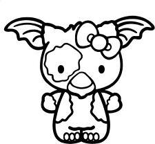 Hello Kitty - Gizmo - Car Window Laptop Vinyl Decal Sticker