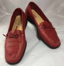 Talbots RED Loafers Flats Womens Ladies 9M 9B Flats Boat Style Shoes  - B2
