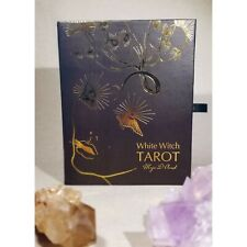 White Witch Tarot Deck Maja D'Aoust box set gold leaf shadow work major arcana