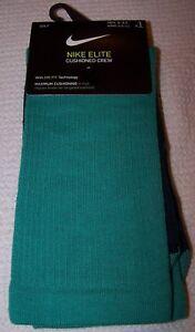 Nike Elite GOLF Cushioned Crew Socks GREEN/BLUE Men's Size 8 - 9.5 ~ NWT $22
