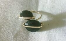 Twin Onyx Gold Filled Adjustable Cocktail Ring