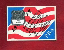 Rare Vintage  CLEAN 1977 public relations   pba card