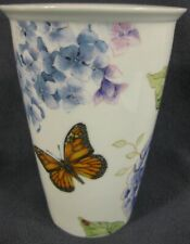 Lenox Butterfly Meadow Ceramic Thermal Travel Mug Double Wall No Lid 10oz