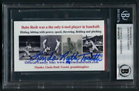Linda Ruth Tosetti signed autograph Babe Ruth Granddaughter Business Card BAS