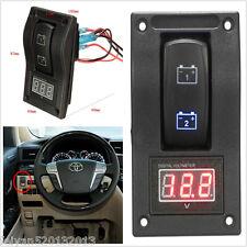 DC12V Marine Boat Car LED Voltmeter Dual Battery Test Panel Rocker Panel Switch