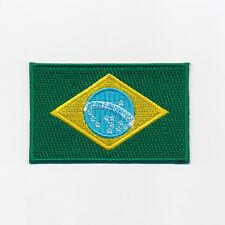 80 x 50 mm Brasilien Flagge Brasil Brasilia Flag - Rio Aufnäher Aufbügler 0937 X