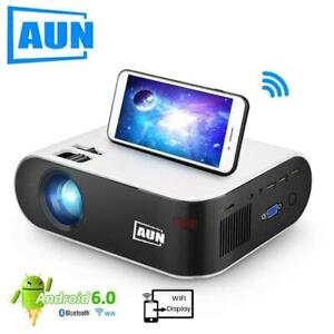 AUN MINI Projector W18, 2800 Lumens (Optional Android 6.0 wifi W18D), support Fu