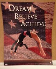 Gymnastics Poster Dream 2005 Scholastic Tangerine Press Inspirational Flag