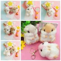 Plush Cartoon Animal Hamster Stuffed Mouse Key Chain Toy Keyring Mini Pendant SU