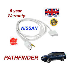 For Nissan PATHFINDER 3GS 4 4s iPhone iPod USB & Aux 3.5mm Cable White