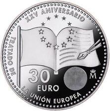 OFERTA 2017 ESPAÑA 30 EUROS PLATA  XXV ANIV UNION EUROPEA,SPAIN,SPANIEN,ESPAGNE