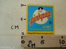 STICKER,DECAL PINKPOP GELEEN 23 MEI 1983, PHILIPS HIFI