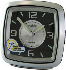 Ruhla Garde Quarz super LED Edelstahl Wecker Metal Alarm clock Uhr Quarzwecker
