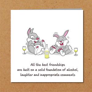 Birthday Card best friend - bestie girl female BFF funny amusing humorous laugh