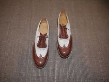 Vintage Deadstock 1940s Cc41 Two-Tone Corespondent Wing Tip Brogues