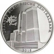 Silbermedaille * 20 Jahre Europ?ische Zentralbank * Gedenkpr?gung 2018 * NEU *?