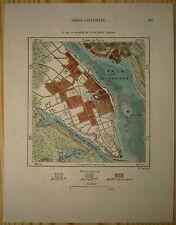 1890 Perron map HALIFAX AND ENGLISH CITADEL, NOVA SCOTIA, CANADA (#162)