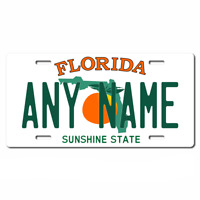 US Metal License Plate - Florida - Customise your own plate
