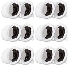 Acoustic Audio R191 In Ceiling Speaker 6 Pair Pack 2 Way Home 2400 Watt R191-6PR