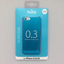 boîtier ULTRA MINCE 0.3 Pochette de protection pour apple iphone 5 5S Bleu Puro