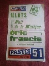 Affiche PUBLICITAIRE PASTIS 51 - 210716 - ILLATS (GIRONDE) Nuit de la Musique