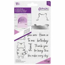 Crafter's Companion Gemini Peek-A-Boo Craft Stamp & Metal Die Set - Cat