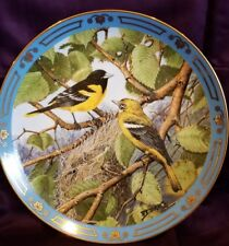 Danbury Mint Winged Treasures Treetop Sunburst bird plate
