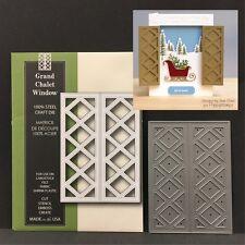 Grand Chalet Window metal die Poppy Stamps cutting dies lattice,shutters 916