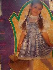 NWT Girls Rubies Wizard of Oz Dorothy Costume Size Medium 8 10 Dress Hair Bows